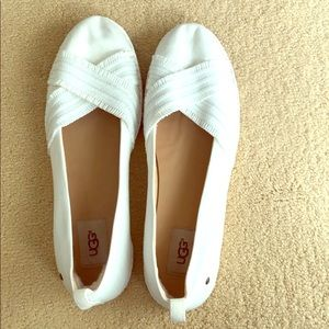 Egg white summer shoe